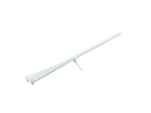 Fotografie Vázací pásky na kabely 350x4,5mm, bílé (100ks)