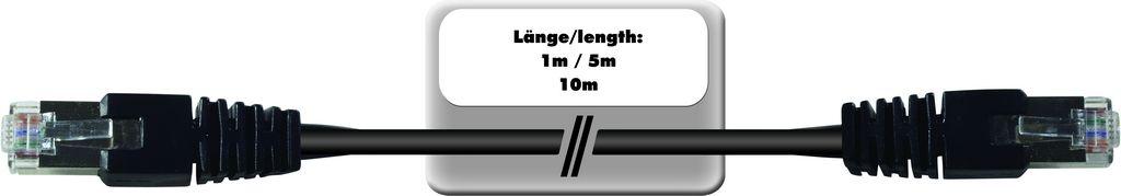 Datový kabel WC-50 2x RJ45, kat. 5E, 5 m