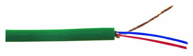 Omnitronic mikrofonní kabel, 2x 0,22qmm stíněný, zelený