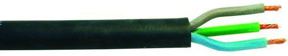 Kabel silikonový černý 3x1,5 qmm, role 25m