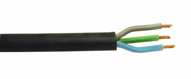 Kabel silikonový černý 3x1,5 qmm, role 100m