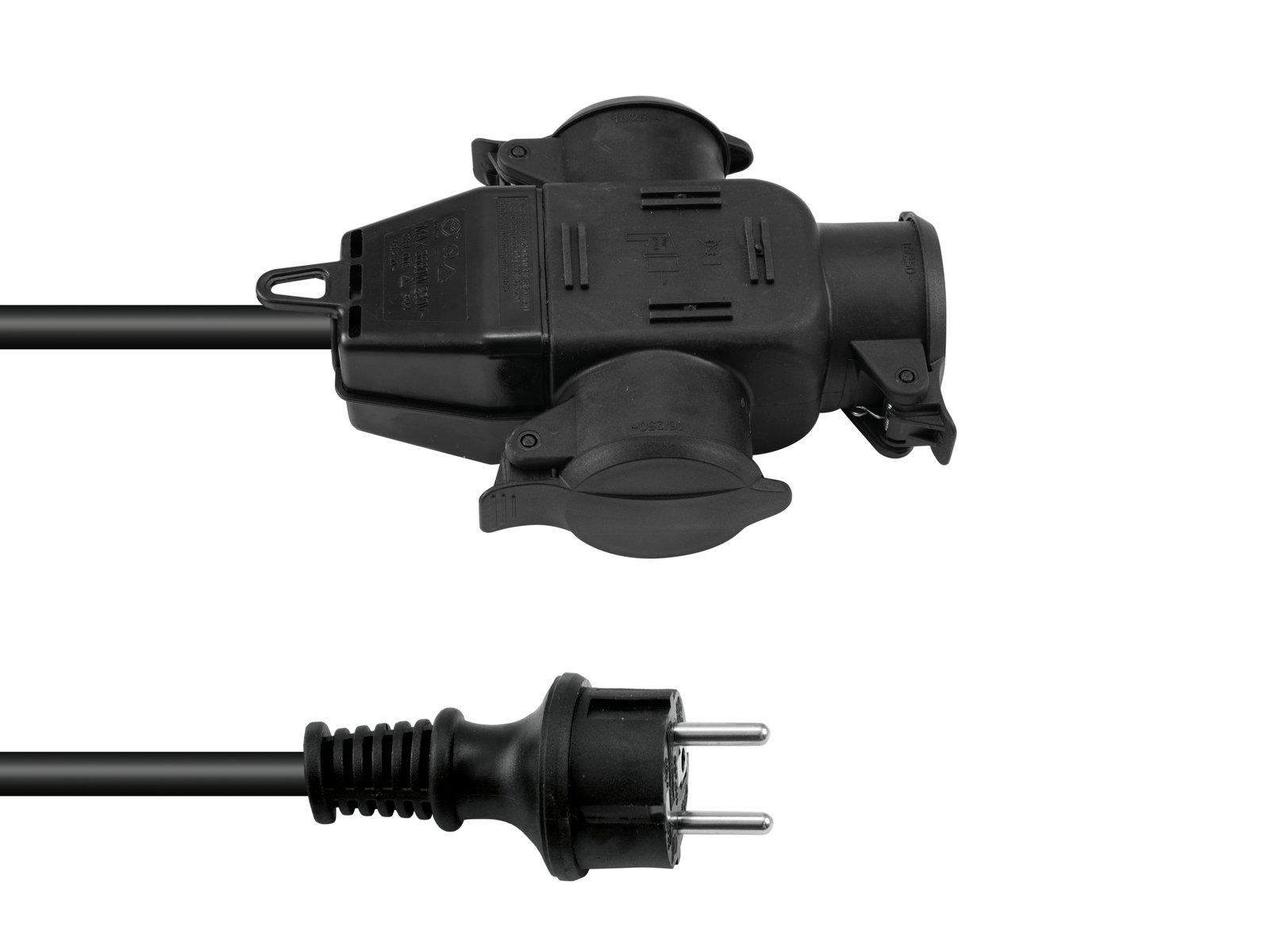 Prodlužovací kabel 3x2,5, délka 3m, 3x zásuvka