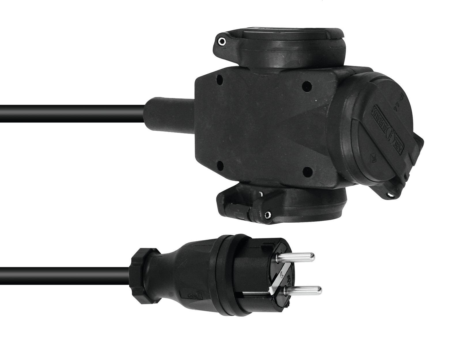 Prodlužovací kabel 3x2,5, délka 10m, 3x zásuvka
